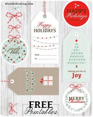 Estiquetas regalos Navidad - Storkiscoming