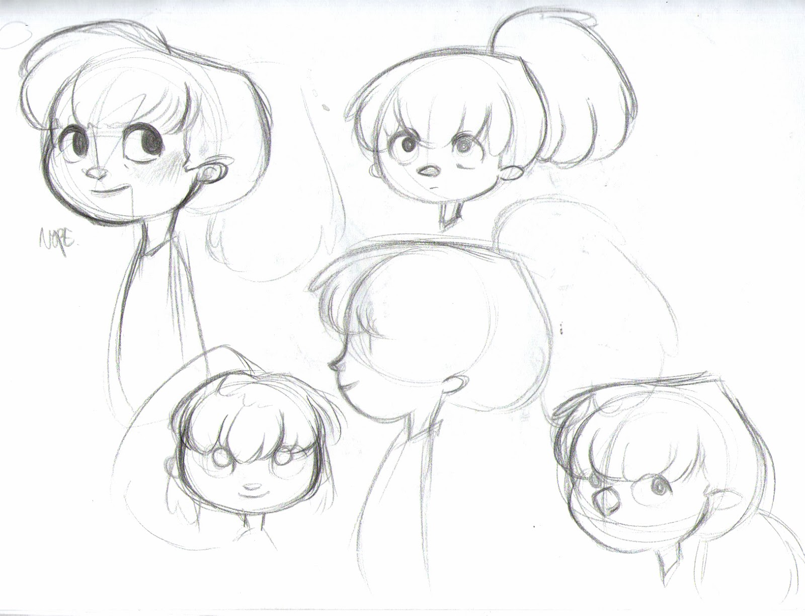 The art of nat for How to draw a little girl easy