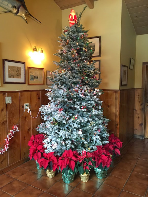 Christmas tree at Duarte's Tavern in Pescadero