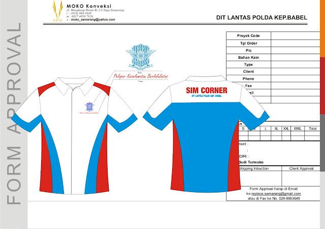 Model Baju Seragam Polisi Ditlantas SIM Corner Polda Bangka Belitung