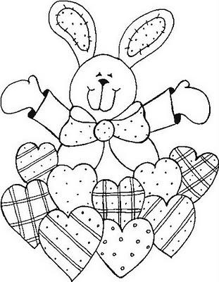 Dibujo de conejo de pascua para colorear ~ Colorea el dibujos