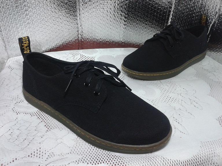 walk walk dr martens callum black canvas shoes uk 9