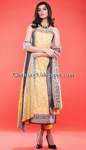 Khaadi Long Shirts Designs 2015