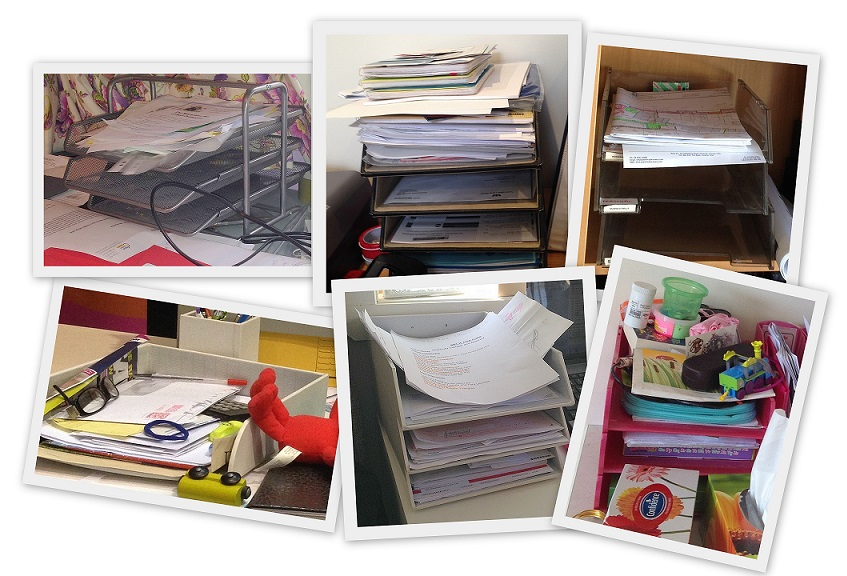in-trays, office organising, paperwork tips, desk organising, decluttering