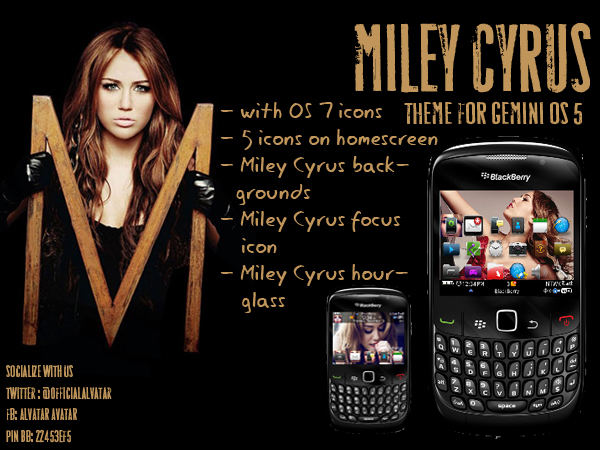 miley cyrus lovers this is a theme for you with os 7 icons 5 icons on ...