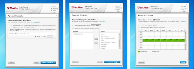 McAfee All Access 2012, Parenting Control, McAfee anti-virus