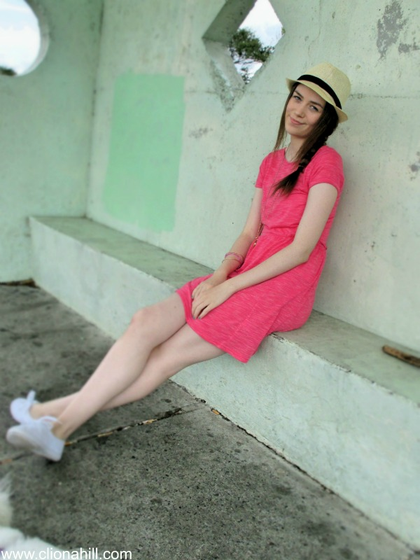 Pink new look t-shirt dress