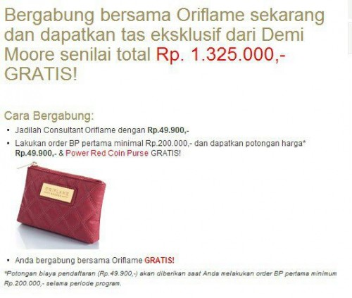 Bisnis Oriflame,Power Red Purse