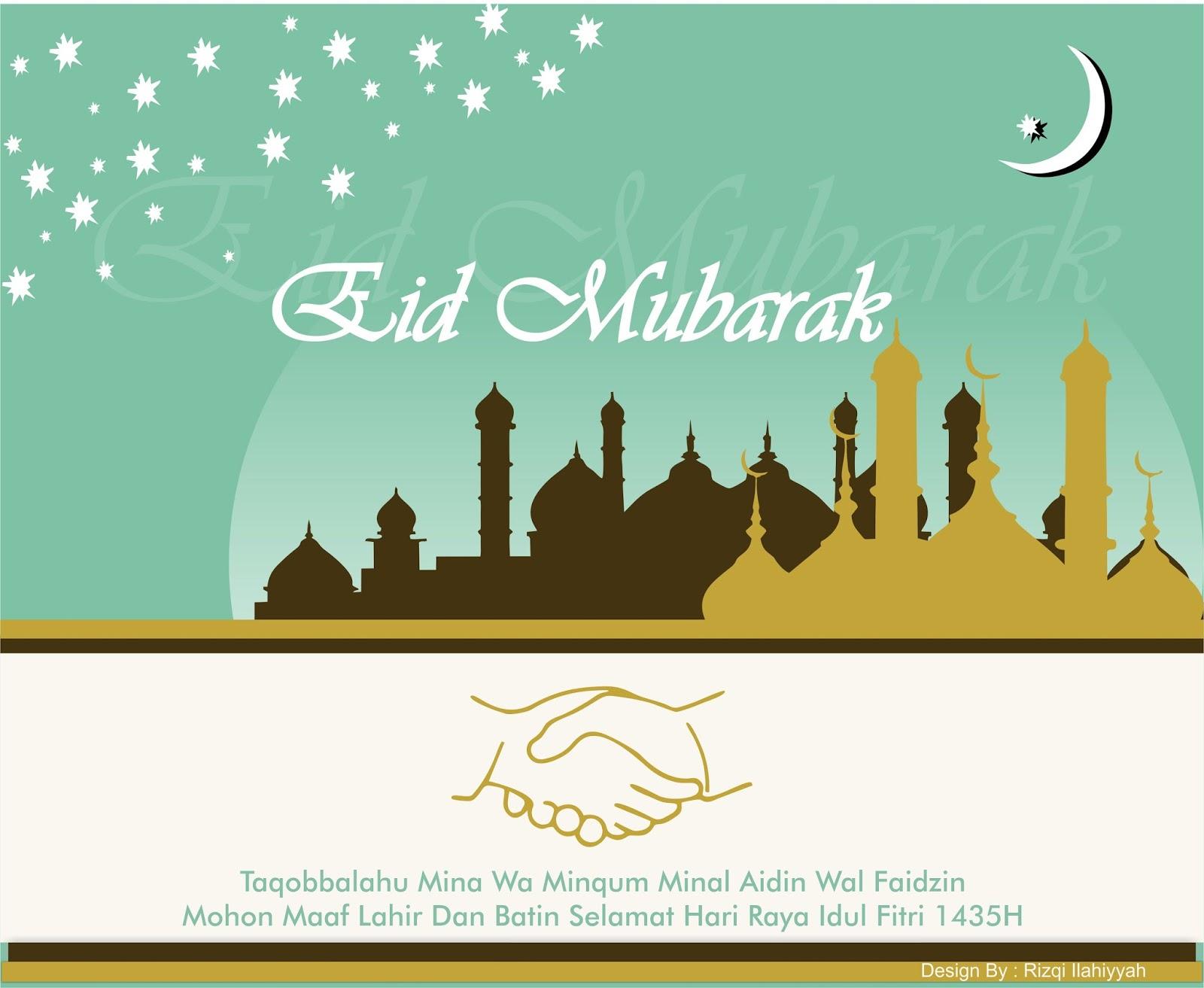 Greetings Card Eid Mubarak 1435 H Catatan Ku