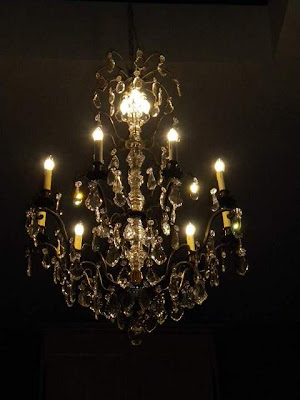 Crystal Chandelier from the Grand Hotel Maritime in Marseilles, 1920-30's. via Antiek Amber, as seen on linenandlavender.net