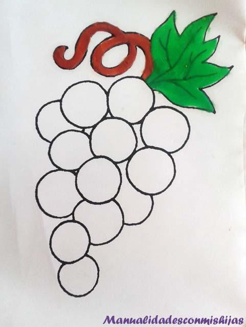 Manualidades con mis hijas: Pintando racimo de uvas y otras frutas ...