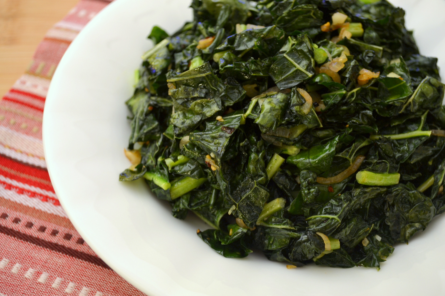 how to cook kale greens with ham hocks