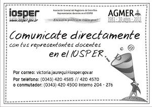 Comunicate con la representante docente en el IOSPER
