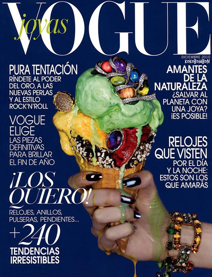 Vogue Latin America December 2010 / ice-cream fashion editorials / via fashioned by love