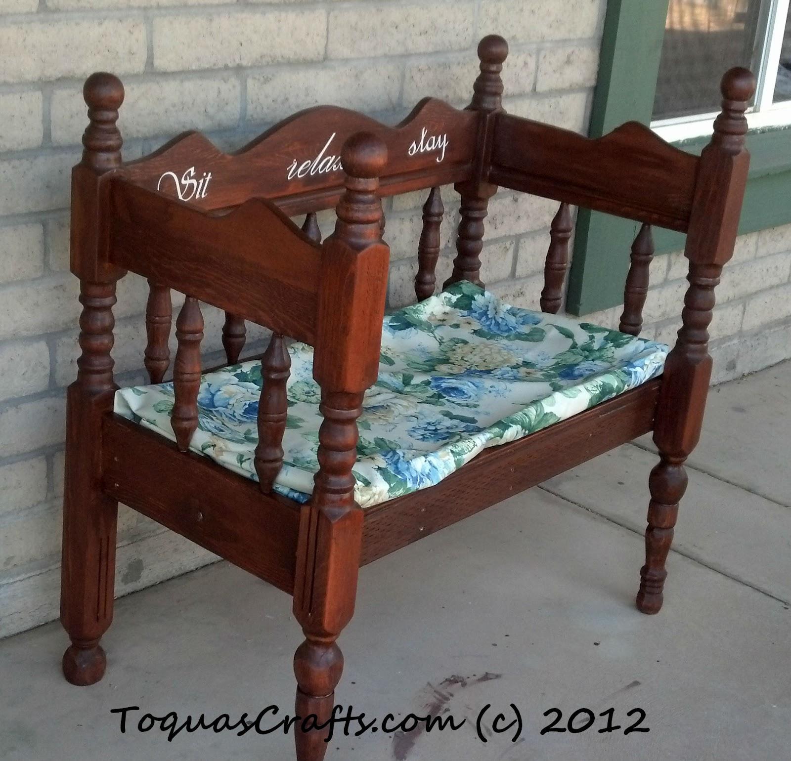 Toqua 39 S Crafts Twin Size Headboard Footboard Bench