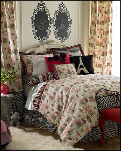 Chic Paris Bedrooms French Style Decorating French Poodles Paris Theme