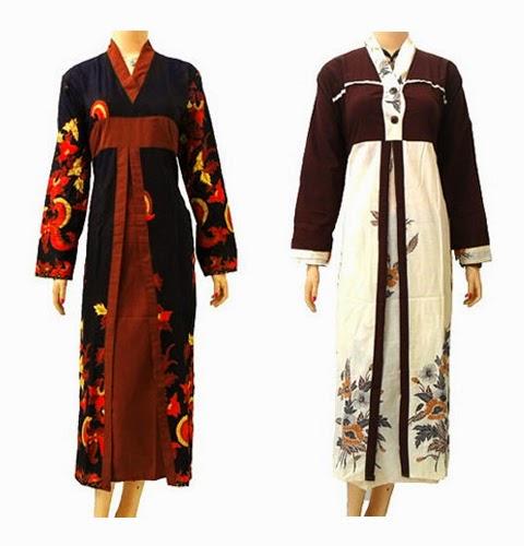model baju gamis batik