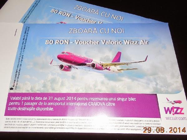 Concurs fulger: 2 vouchere Wizz Air