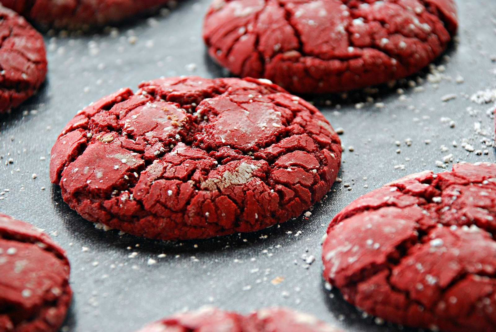 so red velvet crinkle cookies have been floating around the internet ...
