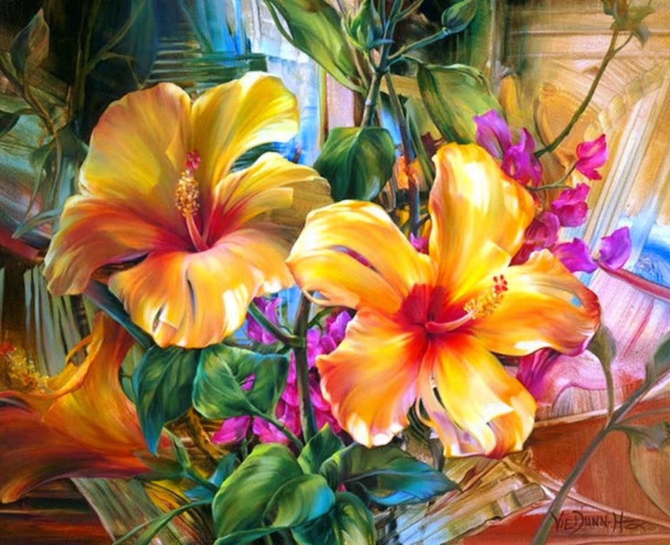 flores-decorativas-en-cuadros-al-oleo