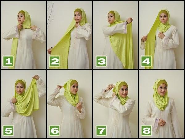 #7 Gambar Tutorial Berjilbab Simple dan Mudah Dipraktikan