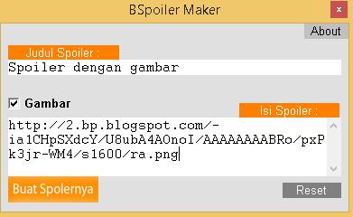 Cara Mudah Membuat Spoiler Pada Blogger dengan BSpoiler Maker