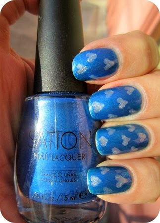 Uñas Pintadas para SanValentin, Color Azul