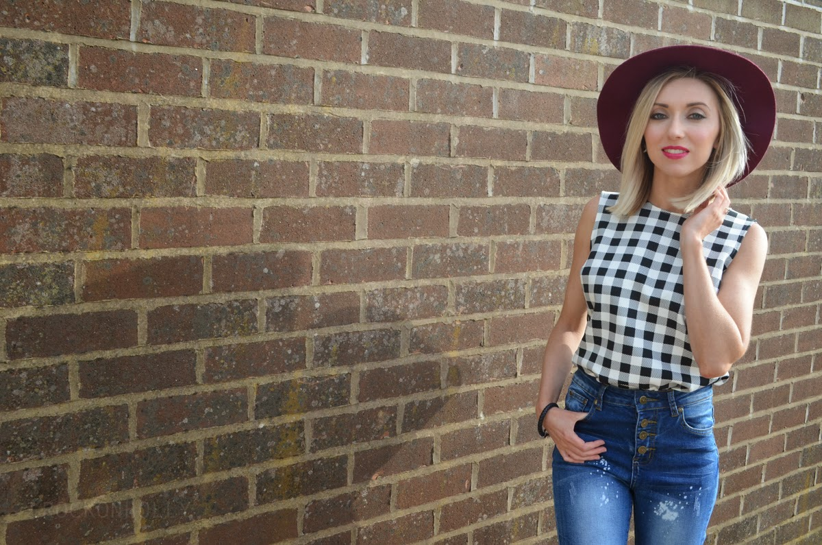 Black and White Checked Marks and Spencer Top