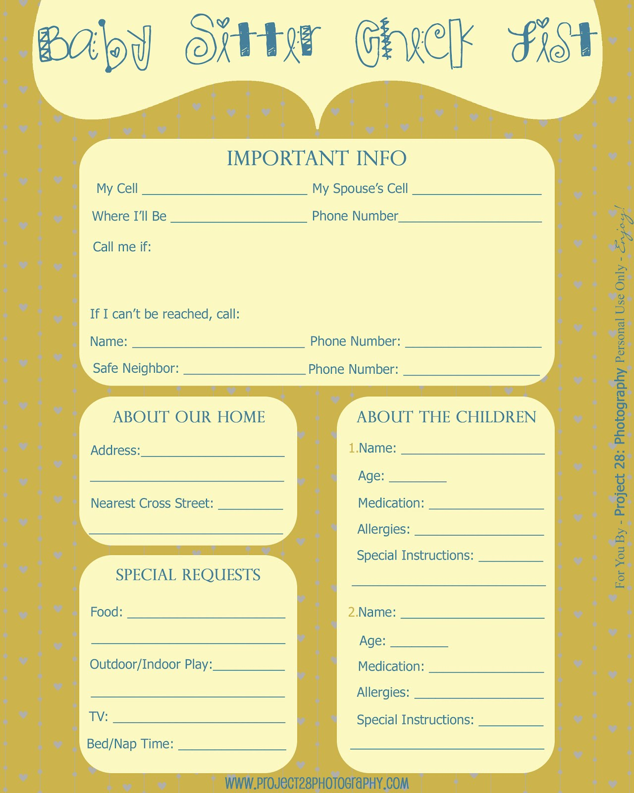 Beautiful Printable Babysitting Coupon Template Crest Example Free