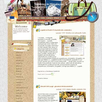 Trekking in Himalayas Blogger Template. free download template blogspot