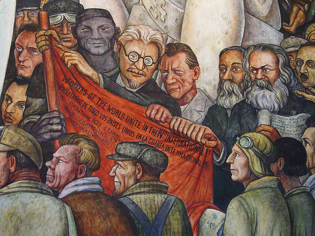 Snippits and snappits the new world order is communism for Diego rivera mural rockefeller