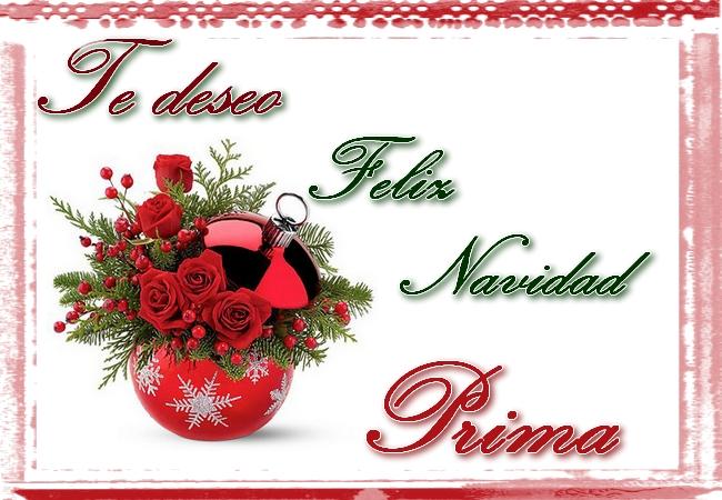 Te deseo feliz navidad prima tarjetas cristianas - Felicitar la navidad a una amiga ...
