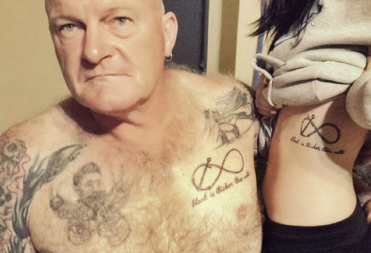 Father daughter tattoo ideas for Daughter father tattoos