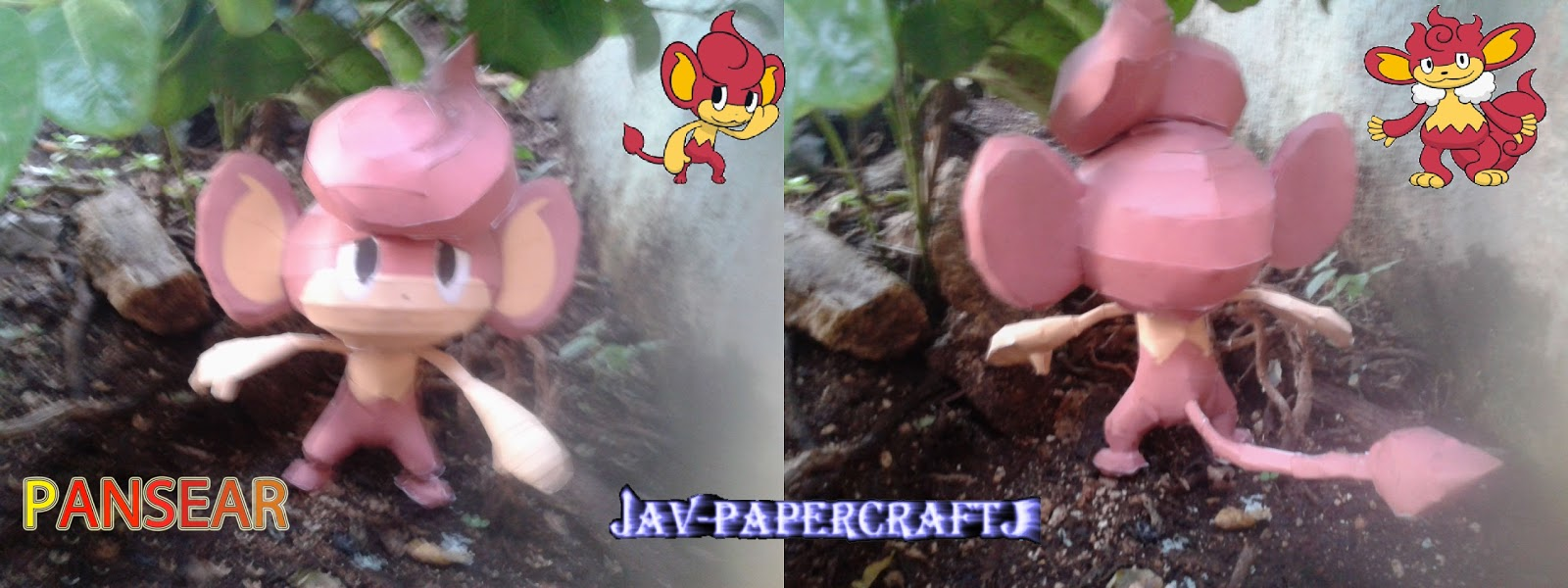 Pokemon Pansear Papercraft