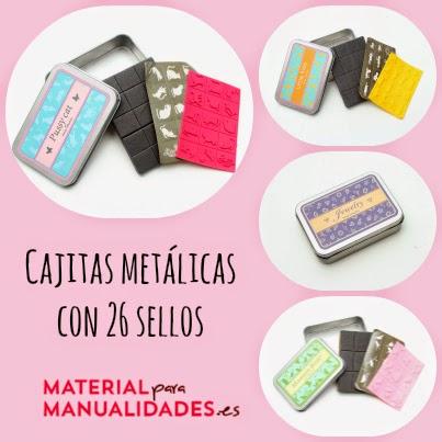 Cajitas metálicas con sellos