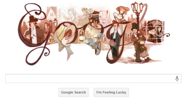 Charles Dickens' Birthday &#8211; Google doodle
