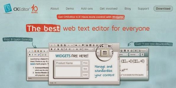 CKEditor web based editor