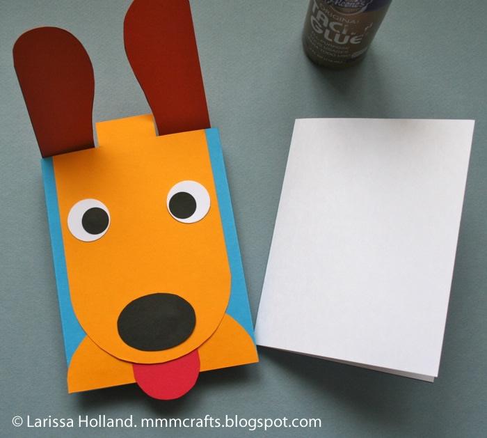 Поделка щенок из бумаги