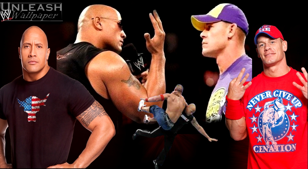 Wwe Wallpaper The Rock Vs John Cena Wallpaper And Money In The Bank