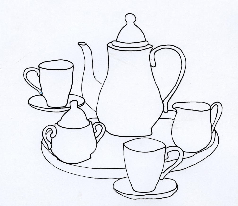Teapot Drawing Wallpaper teapots
