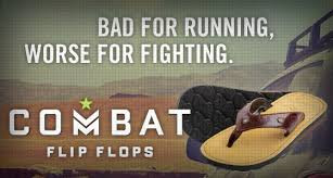 Flip Flops made with Combat Boots