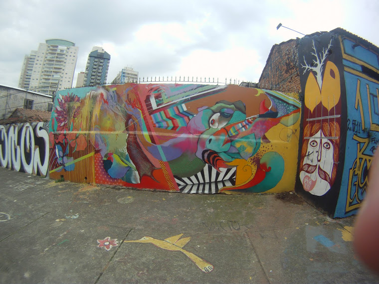 Graffiti area in Sao Paulo