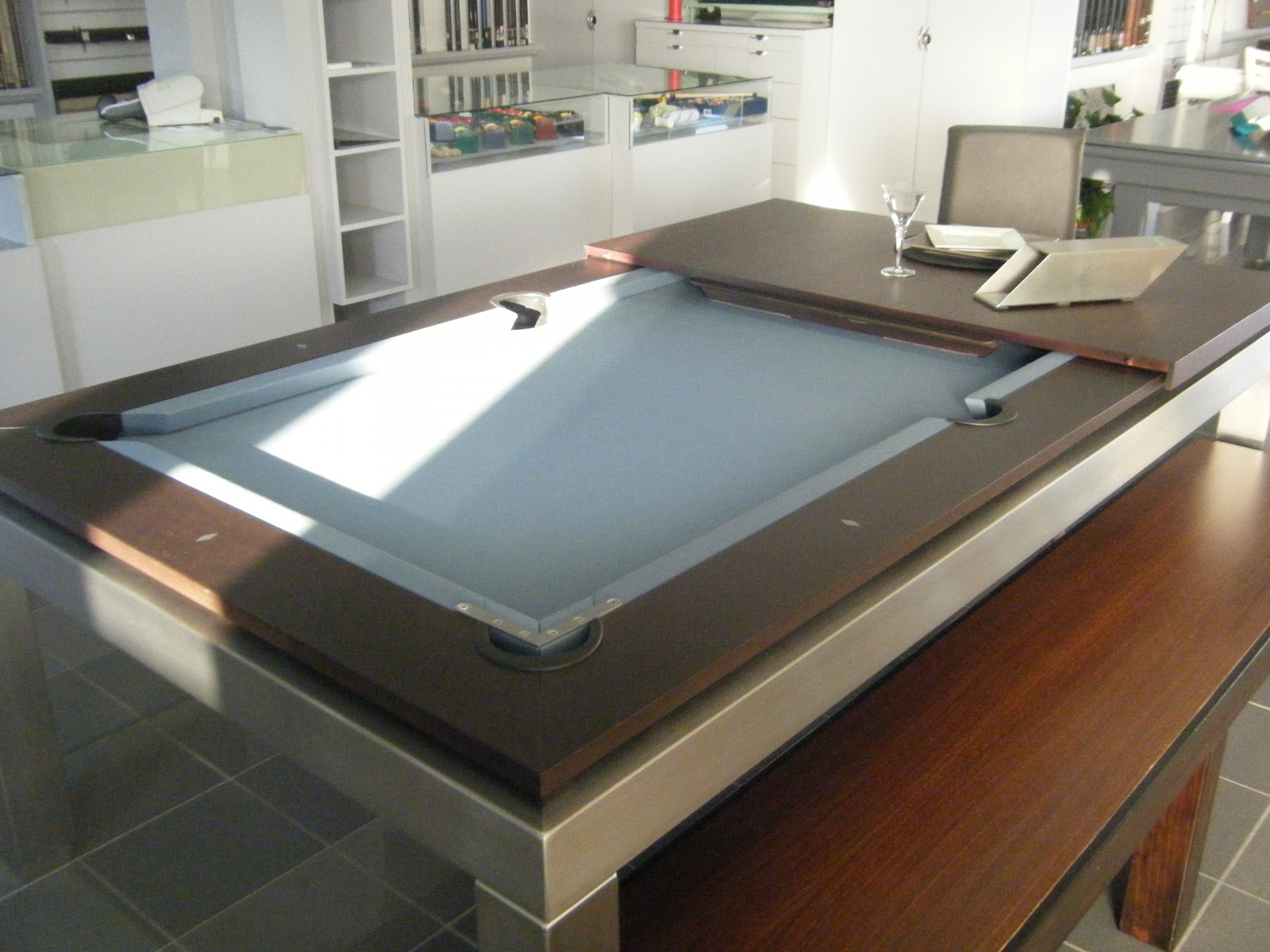 Fabricant de billards juin 2012 - Table de billard transformable en table de salle a manger ...