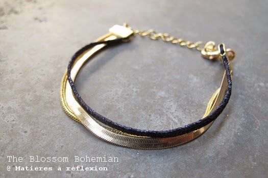 Bracelet multi-chaine doré The Blossom Bohemian