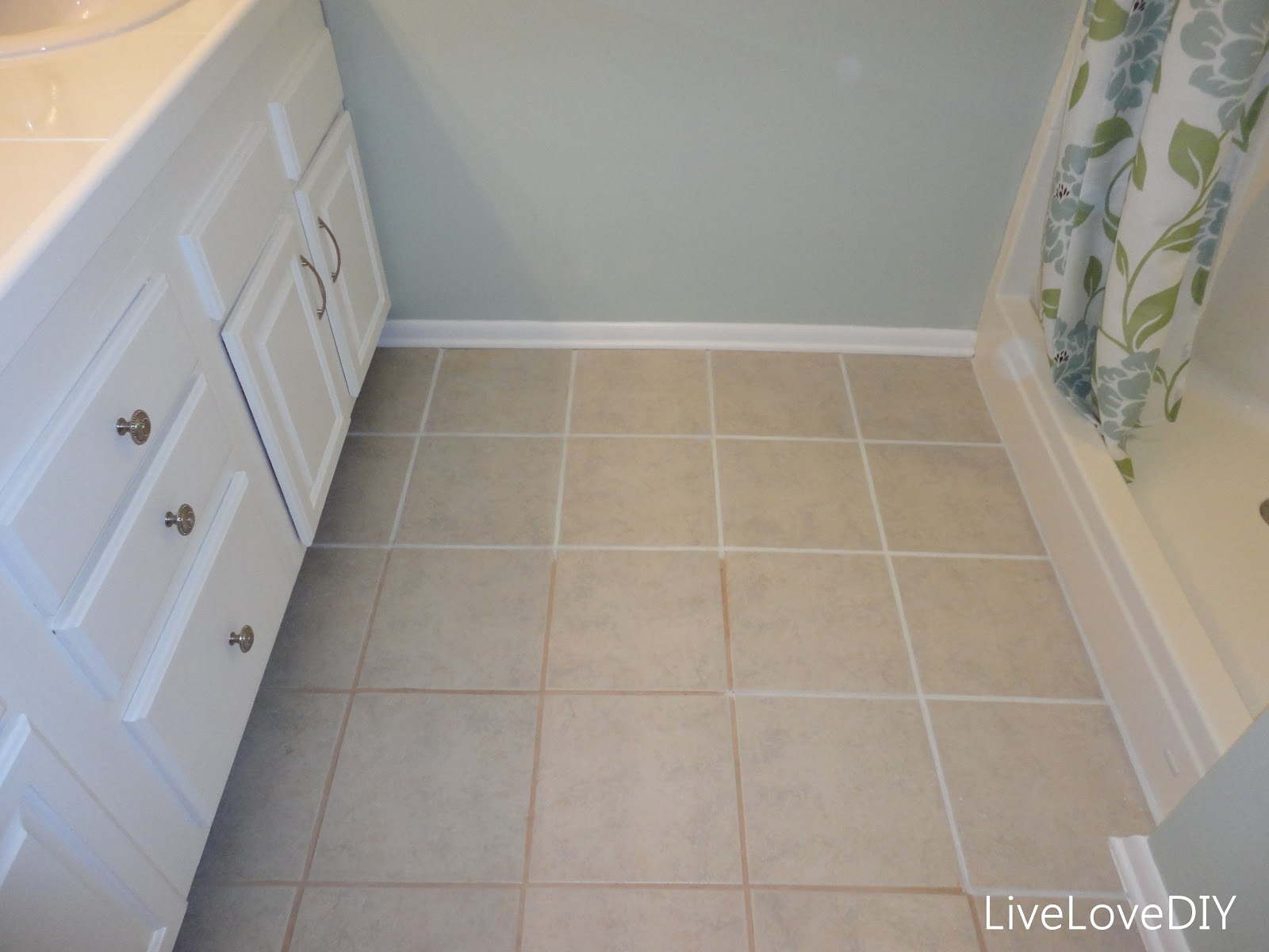 How to clean grout on bathroom floor tiles - To