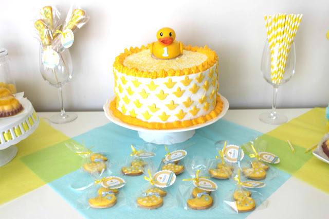 tarta primer cumpleaños pato goma