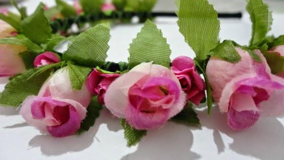 diy tiara de flores