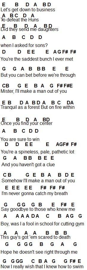 Flute Sheet Music Ill Make A Man Out Of You