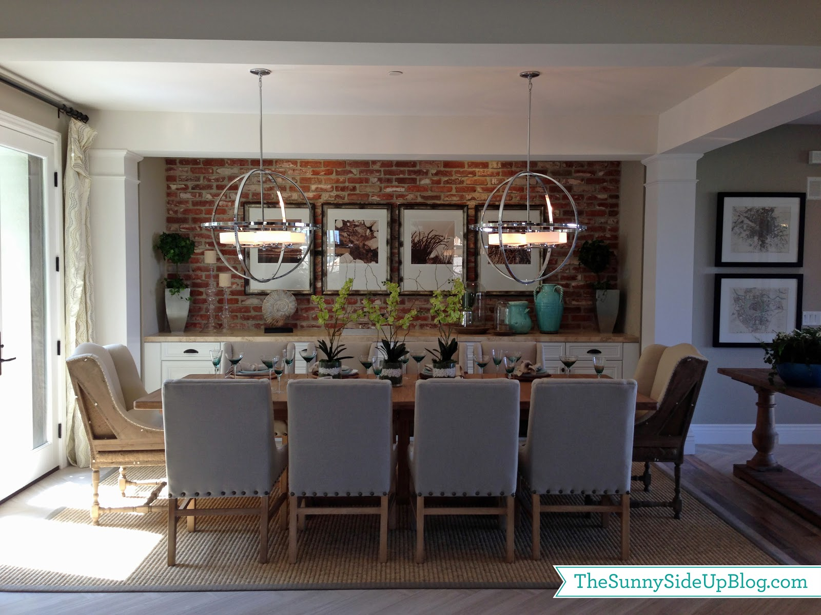 Fun decor model home the sunny side up blog for Model home dining room