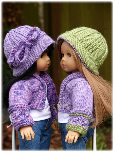 Knitting Pattern For A Dolls Hat : Debonair Designs for 18
